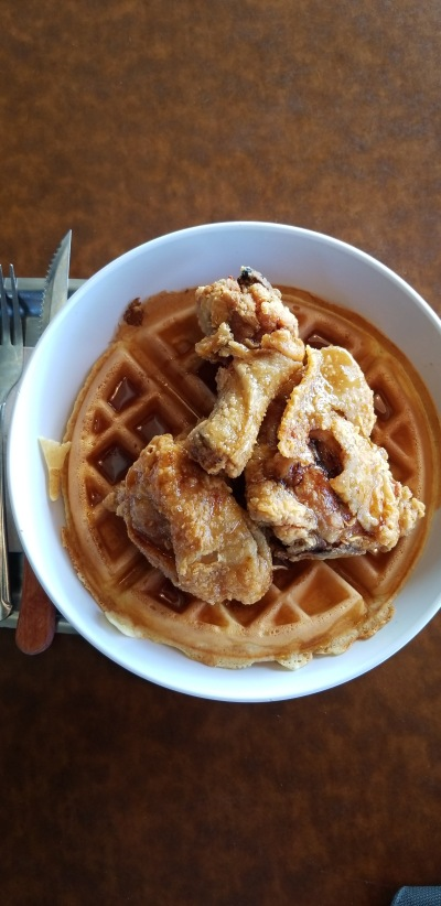 Chicken and Waffles at Feed Co. Burgers